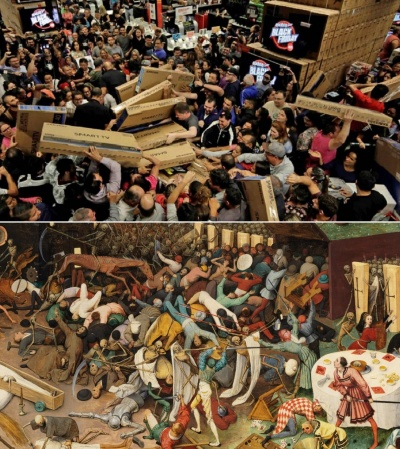 Black Friday vs Pieter Brueghel the Elder