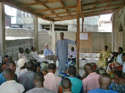 Community meeting, World Bank project, Nigeria