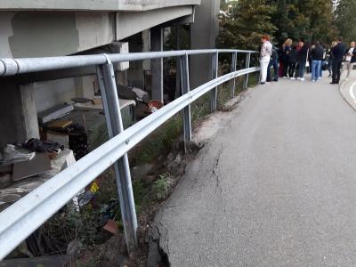 Roma hytter, under Vesterveibroa, Kristiansand