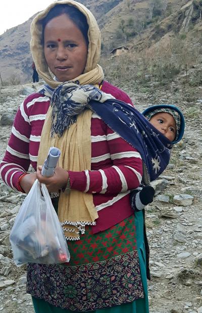 Woman and child, Nalgad, Jajarkot, Nepal