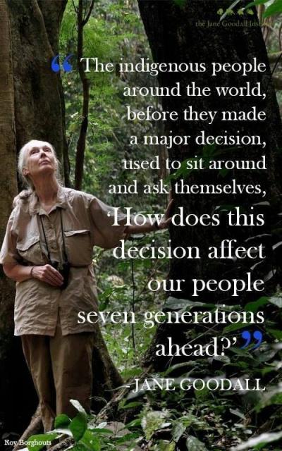 Jane Goodall on indigenous environmental decision-making